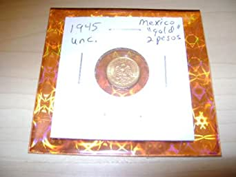 GOLD COIN 1945 Mexico 2 Pesos .900 PURE GOLD