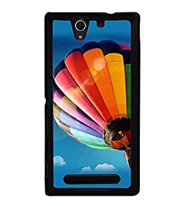 printtech Hot Air Balloon Colored Back Case Cover for Sony Xperia C3 Dual D2502 , Sony Xperia C3 D2533