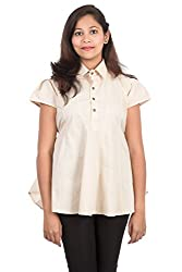 Juee Women's Cap Sleeve Top (JU108SY10CPBEG) (Small)
