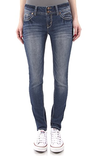 WallFlower Juniors Luscious Curvy Skinny Jeans in Katy Size: 1 (Junior Jeans Size 1 compare prices)