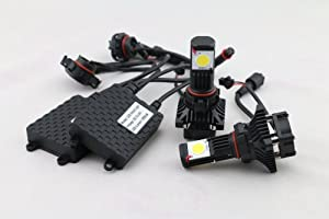 New Brights&Trade; LED Headlight Conversion Kit - All Bulb Sizes - 50W 3600LM Cree LED - Replaces Halogen & HID Bulbs - 5202 (H16 EU)