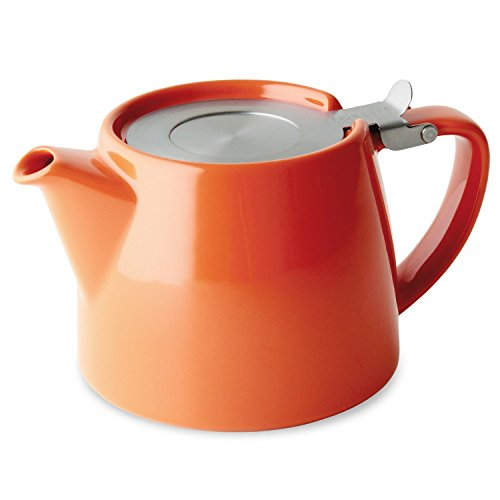 FORLIFE Stump 18-Ounce Teapot with SLS Lid and Infuser, Carrot (Microwave Safe Tea Infuser compare prices)