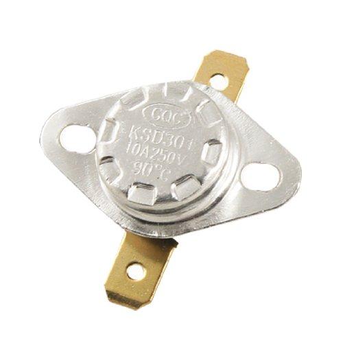 2 Pcs Ksd301 Nc 90 Celsius Temperature Control Switch Thermostat Ac 250V 10A