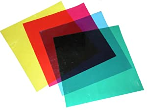 Cowboystudio Color Correction Gels - Set of 4 12x12 inches Gels