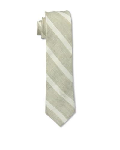 Gitman Men's Diagonal Stripe Tie, Cream