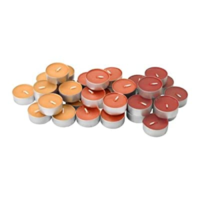 Party Wedding Diwali Tea Lights Scented Candles Pack Of 36 - Orange