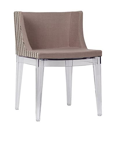 Lo + demoda stoel set van 2 Stamp Lines bruin