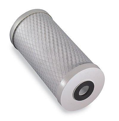 "Filter cartridge, ""Big Blue"", 10"", carbon block, 0.5 micron"