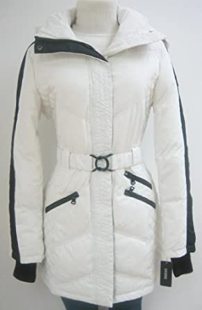 Buy Guess Chevron Walker Down Coat, Jacket, White black, Large, Md176 by GUESS