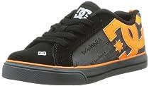 DC Court Graffik Vulc SE Sneaker (Little Kid/Big Kid),Black/Orange,11.5 M US Little Kid