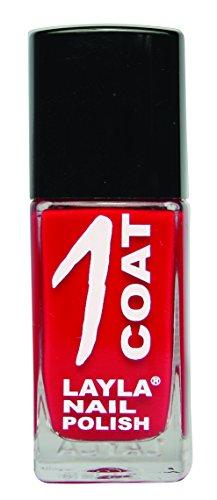 Layla 1262R23-028 1 Coat Smalto per Unghie, Tonalità 28 Devil Wears Red