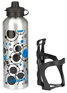 Schwinn Alloy Water Bottle and Nylon Cage with Circles (25-Ounce)