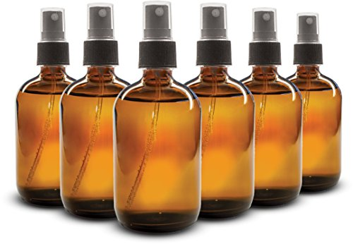 Everything4Oils 8oz Amber Glass Bottle with Pump for Essential Oils (6-pack) (Gear Oil Pump Bottle compare prices)