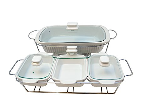 Kitchen Elements Ceramic Triple Tray Plus Single Baking/Heater Set