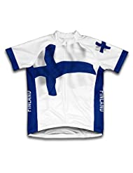 Finland Flag Short Sleeve Cycling Jersey for Women