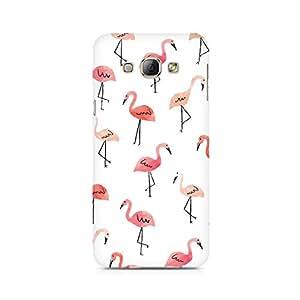 Ebby Pink Flamingo Premium Printed Case For Samsung A8