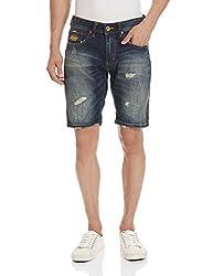 Superdry Men's Denim Shorts (5054265215148_M71MJ000F1_36_Heavy Damage)