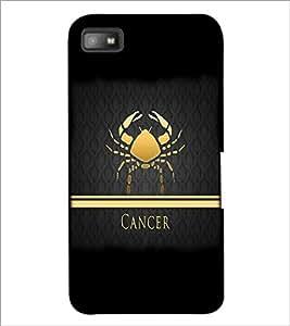 PrintDhaba Zodiac Cancer D-4294 Back Case Cover for BLACKBERRY Z10 (Multi-Coloured)