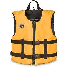 Buy MTI Adventurewear Livery PFD Life Jacket (Mango, Youth Size 50-90-Pound) by MTI Adventurewear