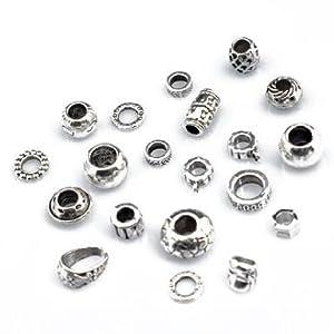 Vente en gros - 20 x Perles Pour Pandora Charmes D'angle Pendentif tibétain en argent Perles