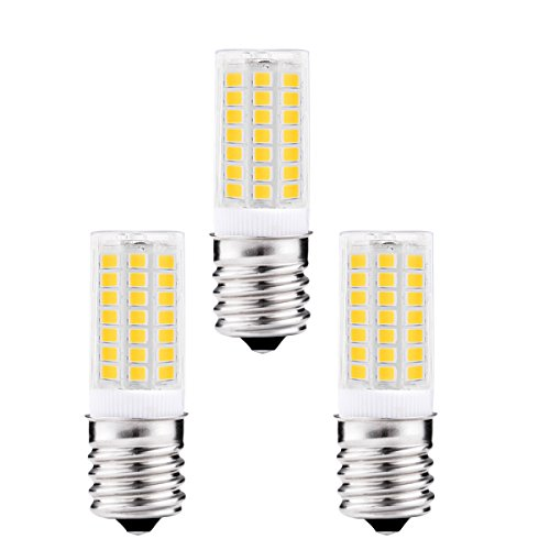 J&C LED 5W E17 LED Bulbs, 40 Watt Incandescent Bulb Replacement, 400Lm, Natural Daylight White 4000K, LED Light Bulbs for Under Cabinet Range Hood, Microwave Oven (Pack of 3) (40w Type R Bulb compare prices)
