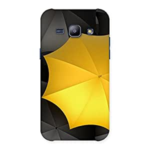 Enticing Black Yellow Umbrella Back Case Cover for Galaxy J1
