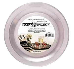 Creative Converting Form and Function Round Plastic Plate, Clear, 7 Inch 12 Count (Pack of 2)