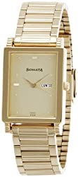 Sonata Analog Gold Dial Mens Watch - 7058YM05