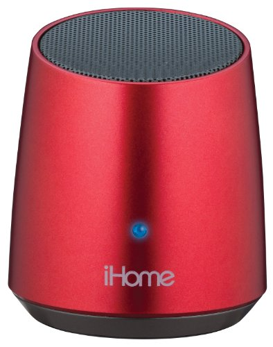 Ihome Ibt69Rc Bluetooth Rechargeable Mini Speaker, Red