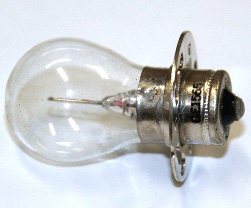 General Electric #1565 5.1 Volt 1.75 Amp S-8 Bulb Instrument, Photoelectric Scanner Single Contact Prefocus Base Lamp