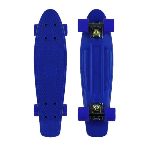 Blank Vinyl Plastic Cruiser Skateboard Complete