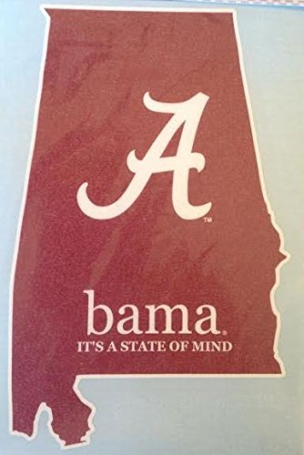 Bama It's a State of Mind Car Decal - Alabama Crimson Tide Auto Window Sticker (Alabama Crimson Tide Window Decal compare prices)