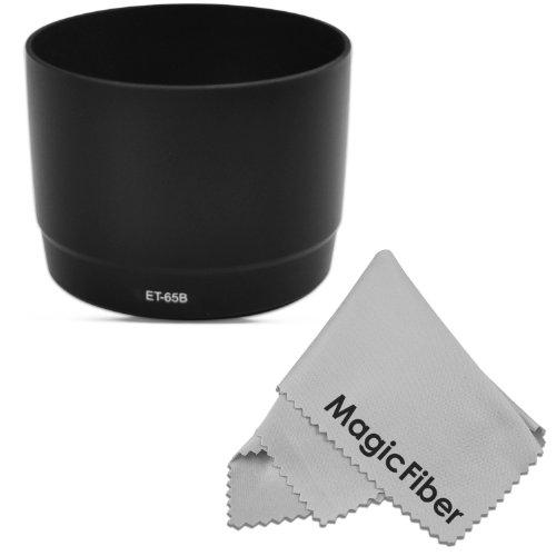 Et-65B Dedicated Altura Photo Lens Hood For Canon Ef 70-300Mm F/4.5-5.6 Do-Is Usm, Ef 70-300Mm F/4-5.6 Is Usm Lenses (Canon Et-65B Replacement) + Magicfiber Microfiber Lens Cleaning Cloth