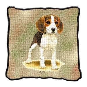 Beagle Puppy Woven Pillow