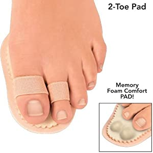 TOE ALIGNMENT COMFORT PADS W/ MEMORY FOAM S:DOUBLE EA