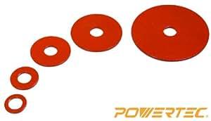 """POWERTEC Oscillating Sander Drum Washer, 3/4"""", 1"""", 1-1/2"""", 2"""", 3"""", 5/PK"""