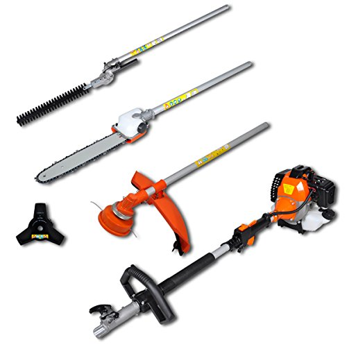 Hedge Trimmer Chain Saw Brush Cutter Grass Trimmer Orange 4 in 1 Set Garden Machinery 2,2 kW