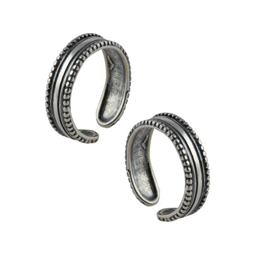 Sterling Silver Toe Rings for Women Adjustable Jewelry from India