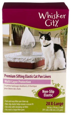 Whisker City Extra Large Cat Sifting Litter Box Liners, 20 Count (Whisker City Cat Pan Liners compare prices)