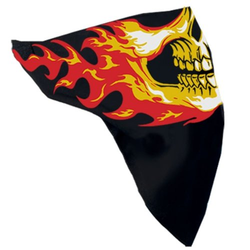 Hot Leathers Face Wrap Hell Skull Face Cloth Face Warmer Mask
