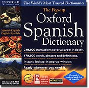 SELECTSOFT USA Oxford Pop-Up Spanish English Dictionary WindowsB00007BGTZ : image