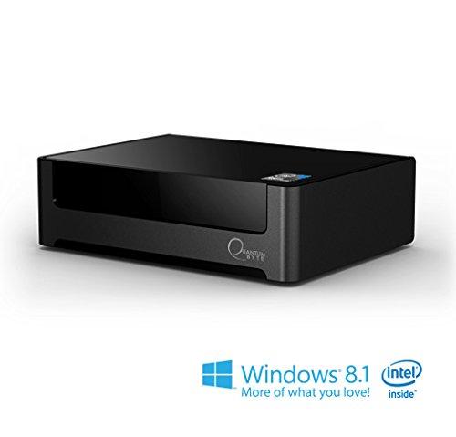Quantum Byte Fanless Windows® Mini Desktop PC with Windows 8.1, Intel Baytrail-T (Quad-core) Z3735F up to 1.83GHz, 2GB RAM+32GB storage