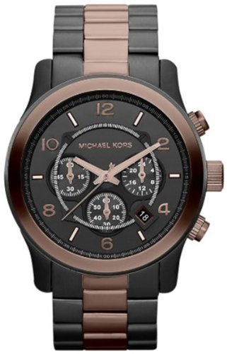 Michael Kors Men's MK8266 Two-Tone Stainless-Steel Quartz Watch with Black Dial