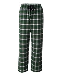 YogaColors Emoticon Cotton Flannel Lounge Pajama Pants in Many Different Color Combos (X-Large, Green/White)