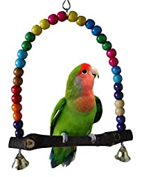 Swing Bird Toy Parrot Parakeet Cockatiel Cage Station Rack Stand Hanging(small Size)