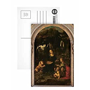 Madonna of the Rocks, c.1478 (oil on panel transferred to canvas) by Leonardo da Vinci - Postcard (Pack of 8) - 6x4 inch - Art247 Highest Quality - Standard Size - Pack Of 8