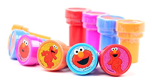 Elmo Sesame Street Self-Inking Stamps / Stampers Party Favors (10 Counts)