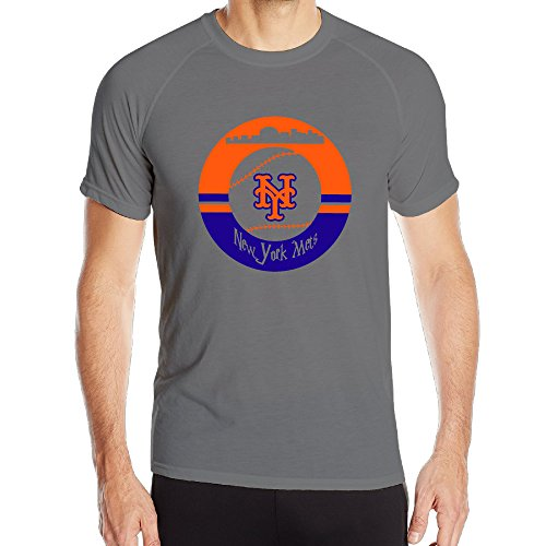 BENZ47' Men's Sportwear New York Mets Short Sleeve T-Shirt Tees DeepHeather Small