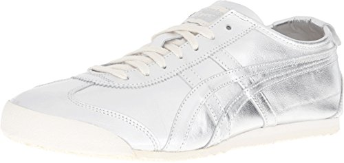 Onitsuka Tiger by Asics Unisex Mexico 66 Silver/Silver Sneaker Men's 13 Medium