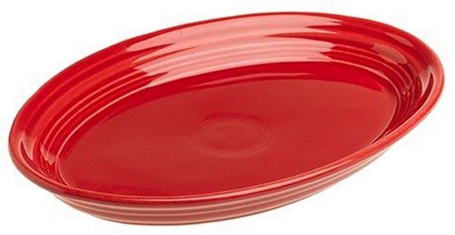 Fiesta 9-5/8-Inch Oval Platter, Scarlet